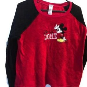 Disney Sleepwear I'm So Done Mickey Size Large